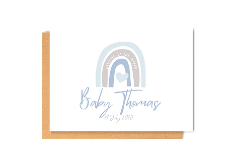 Welcome Baby Girl- personalise me