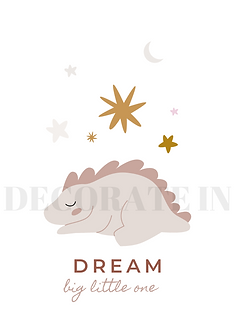 """DREAM"" PINK DINO DP"