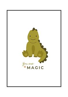Green Dino Magic Poster