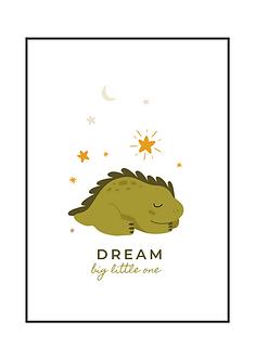 Green Dino Dream Poster