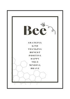 Bee Grateful Poster