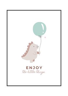 Pink Dino Enjoy Poster