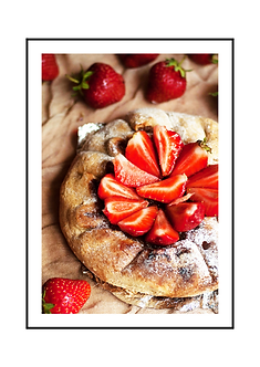 Strawberry Galette Poster