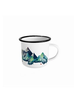 ENAMEL MUG MOUNTAINS