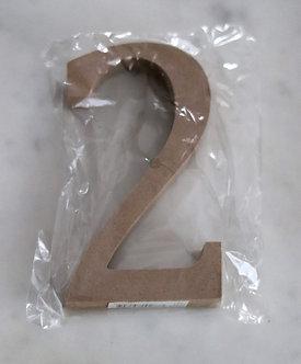 MDF Wooden Number 2