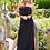 Thumbnail: Black Ruffle Bandeau Maxi Dress by Mapale
