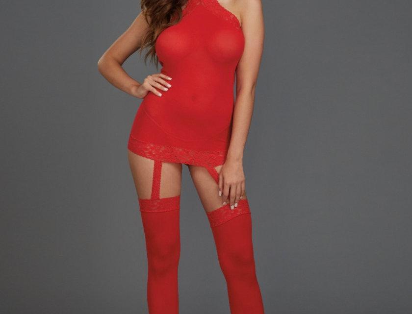 Red Sheer Lingerie Dress