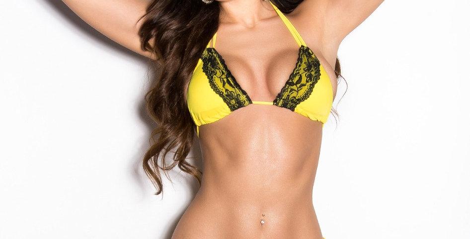 Yellow Lace Bikini