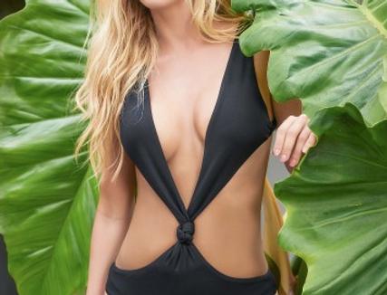 Sexy Black Thong Monokini by Mapale