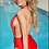 Thumbnail: Red Plunge Swimsuit