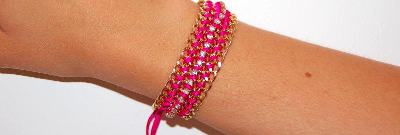 'Hayley' Pink Bracelet