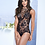 Thumbnail: Black Lace Teddy with Lace Up Back