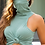 Thumbnail: Green Turtle Neck With Integrated Face Mask