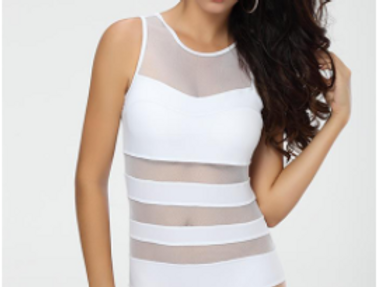 Mesh Swimsuit White