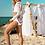 Thumbnail: White Boho Long Sleeved Bikini by Mapale