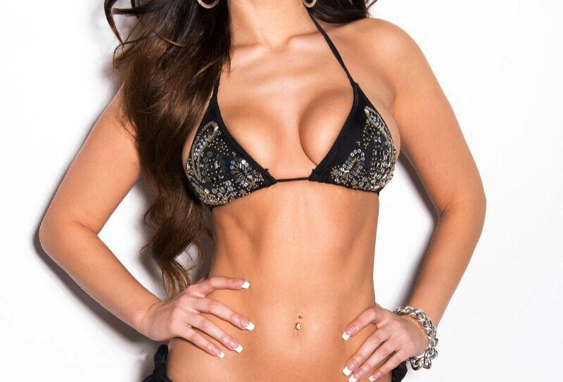 Black Sequin Bikini