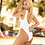 Thumbnail: White One Piece High Leg Swimsuit by Mapale