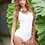 Thumbnail: White Stappy Backless Swimsuit by Mapale