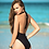 Thumbnail: Black Plunge One Piece Swimsuit by Mapale