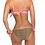 Thumbnail: Pink bandeau bikini with leopard bikini bottoms