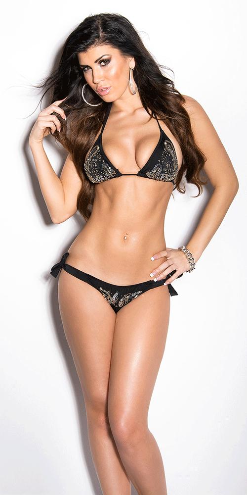 Black bikini, Black sequin bikini