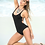 Thumbnail: Black Strappy Back Swimsuit by Mapalé