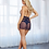 Thumbnail: DreamGirl Midnight Blue Lace and Mesh High neck Babydoll