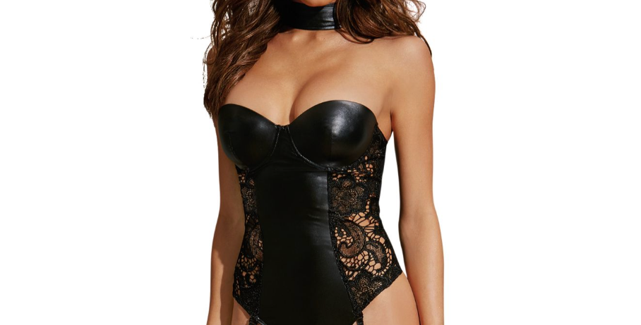 Dreamgirl Black Teddy with Lace