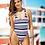 Thumbnail: Navy Striped One Piece Swimsuit