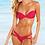 Thumbnail: Pink Strappy Bandeau Push Up Padded Bikini