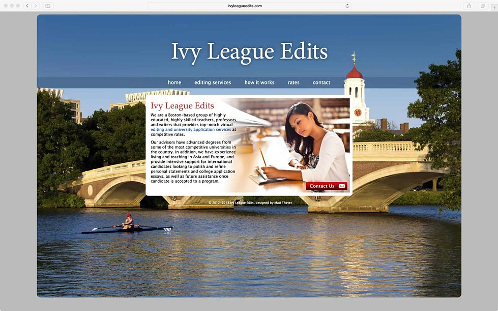 Ivy League Edits website
