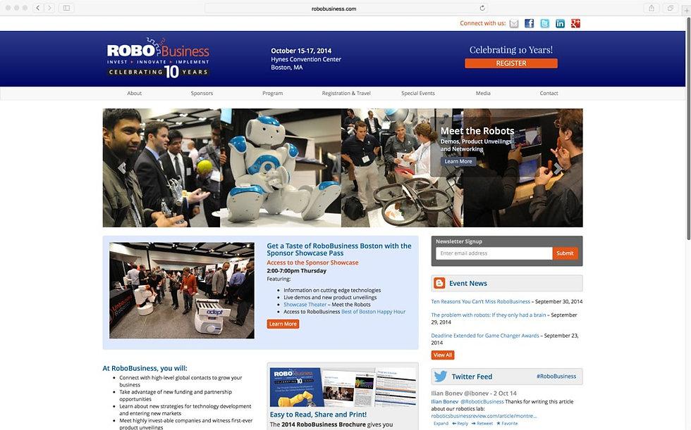 RoboBusiness website