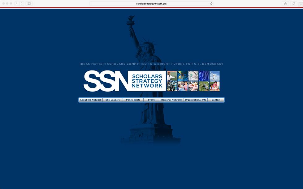Scholars Strategy Network website