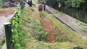 Gute Nachricht für den Burbach in Richrath - BRW repariert Schaden!