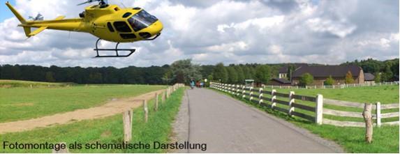 Hubschrauberlandeplatz an der Dückeburg vor dem Aus