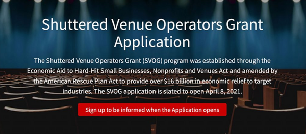 SBA Launching Shuttered Venue Operators Grant Starting April 8 – How to Prepare to Apply