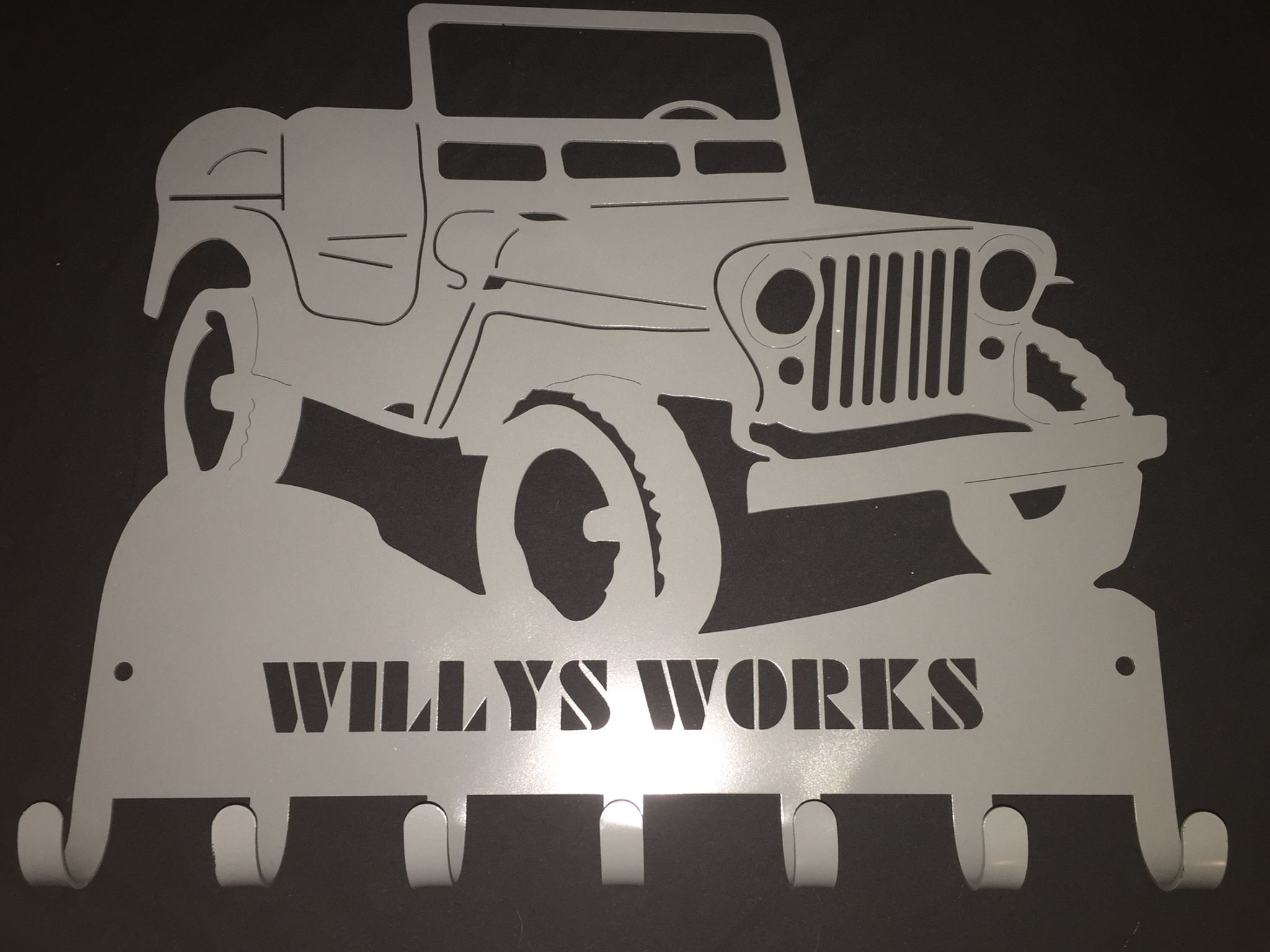 Willys Works Die Cut Hangers