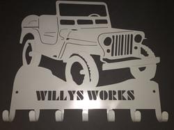 Willys Works Die Cut Hangers