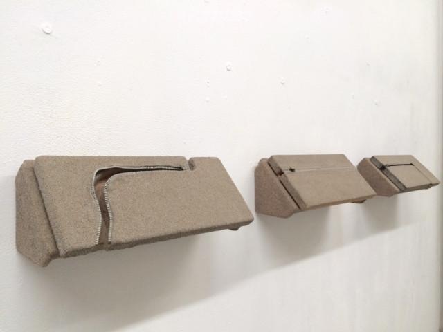 Untitled (Sand Zipper) installation
