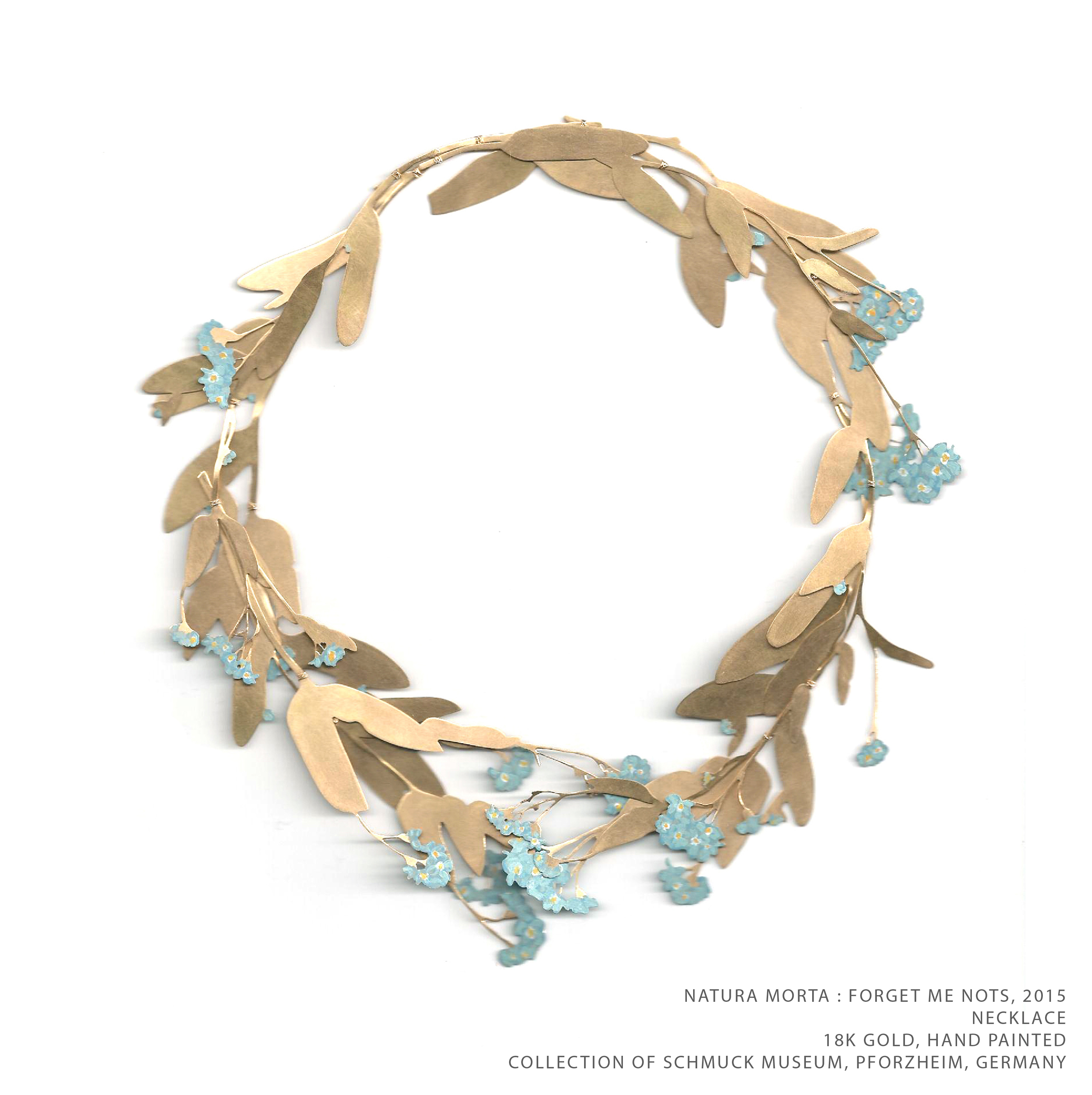 Natura Morta Forget Me Knot Gold TEXT