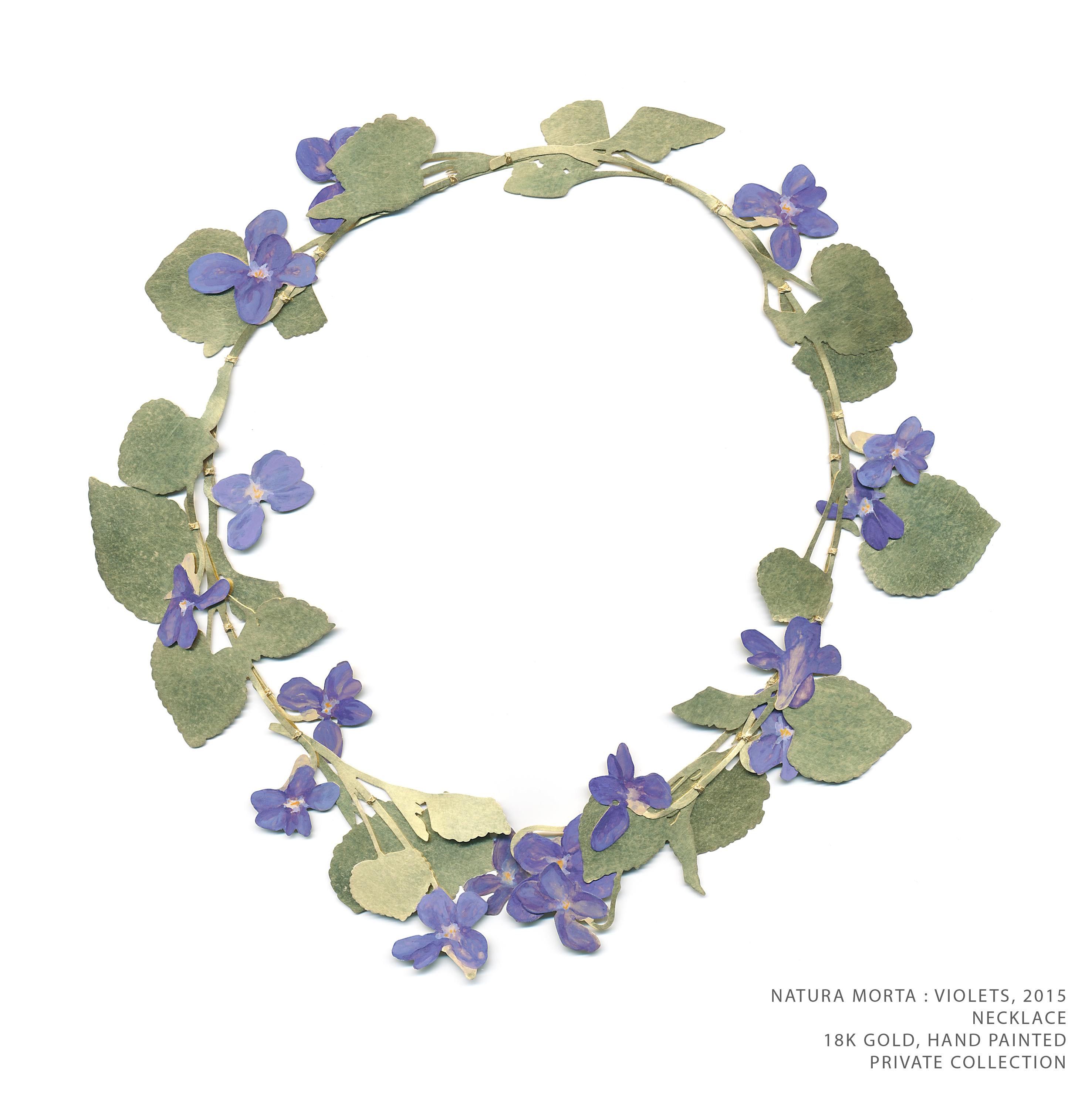 Natura Morta Violets TEXT