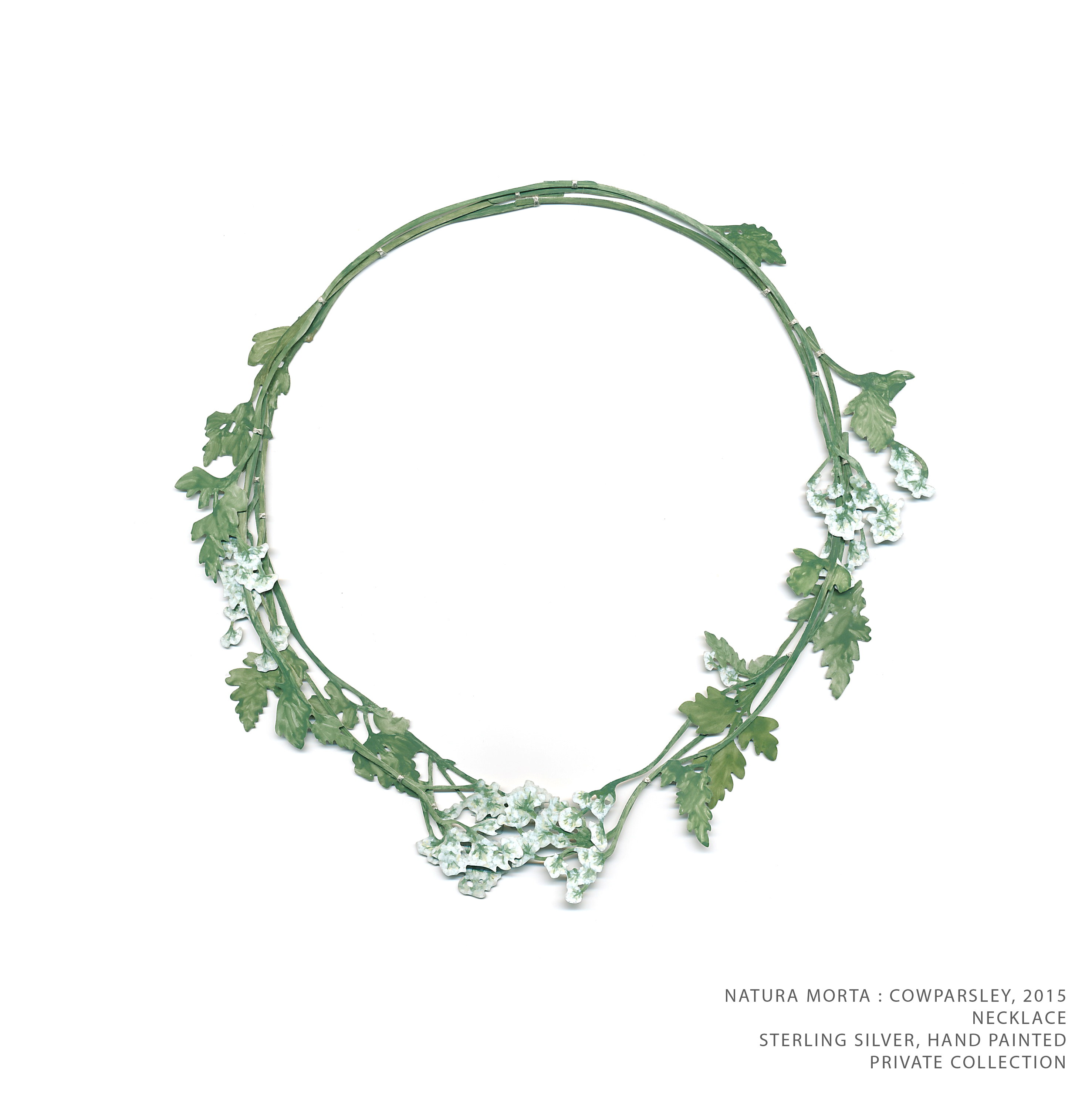 Natura Morta Cowparsley Necklace TEXT