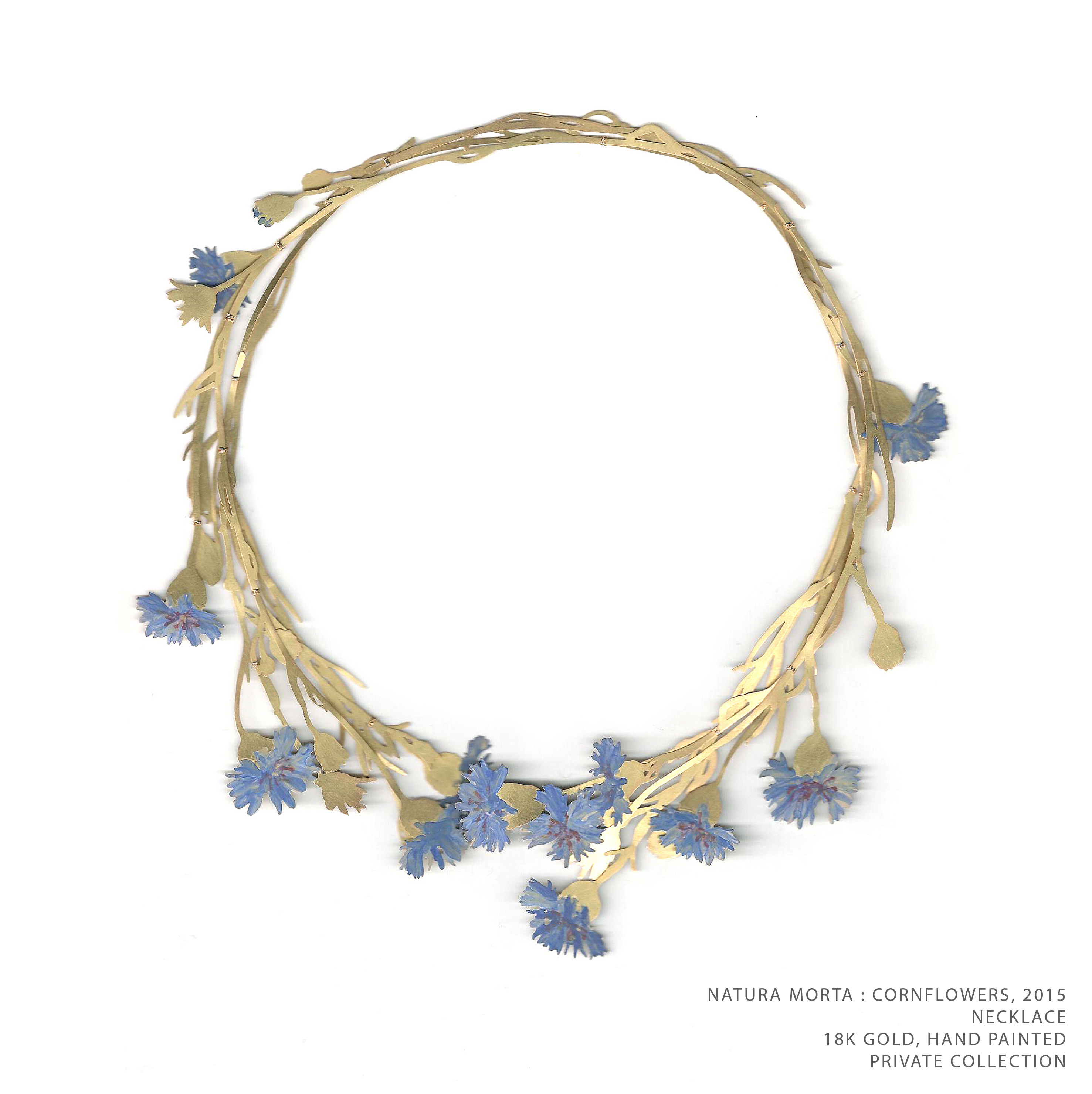 Natura Morta Cornflower Necklace 2015 TEXT
