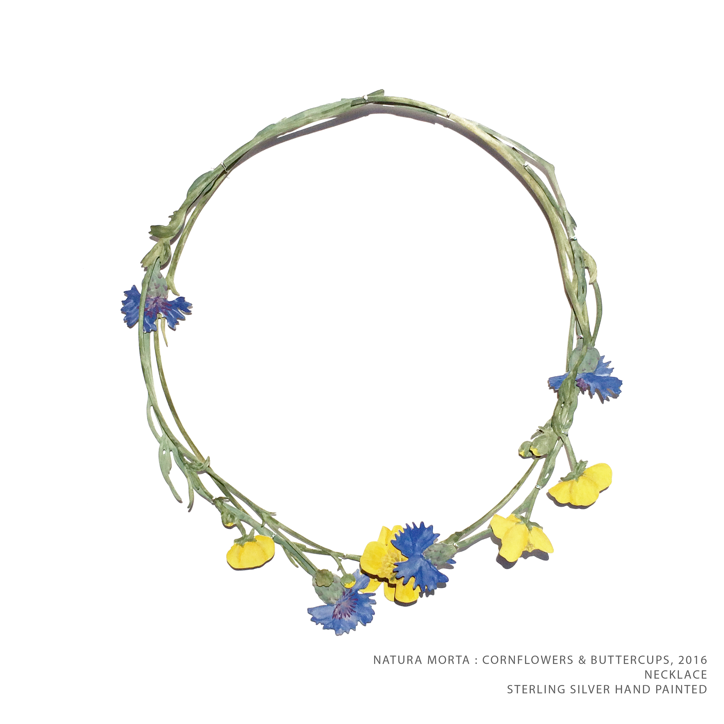 Natura Morta Buttercup & Cornflowers 2016 TEXT