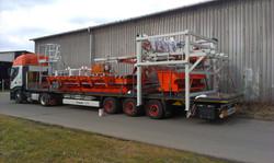 Část linky pro dřevozpracující průmysl