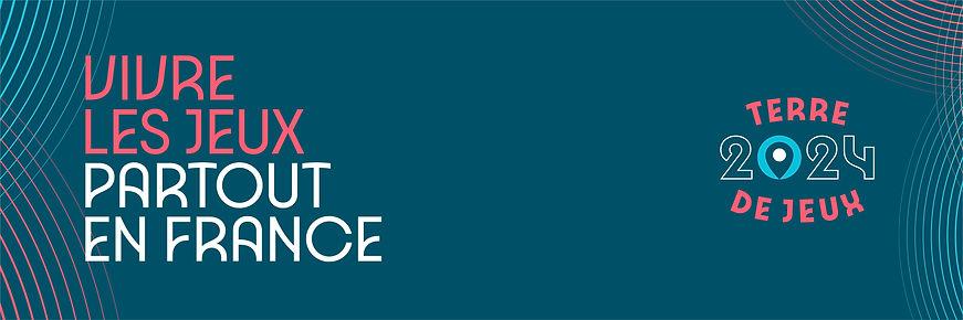 Terre de Jeux 2024 - Bandeau Fond bleu -