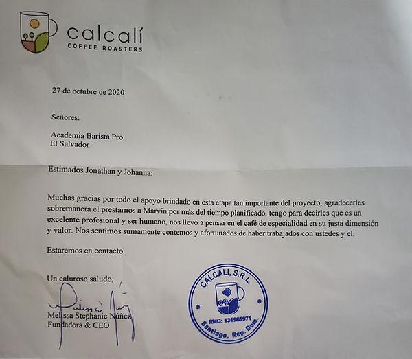 Calcali Cafe Republica Dominicana con Academia Barista Pro