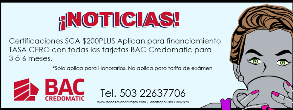 Cursos de Cafe con Financiamiento