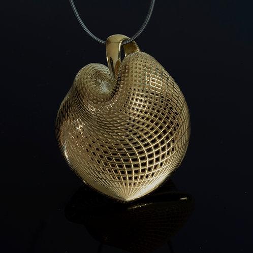 LARGE HEART PENDANT - 18k gold