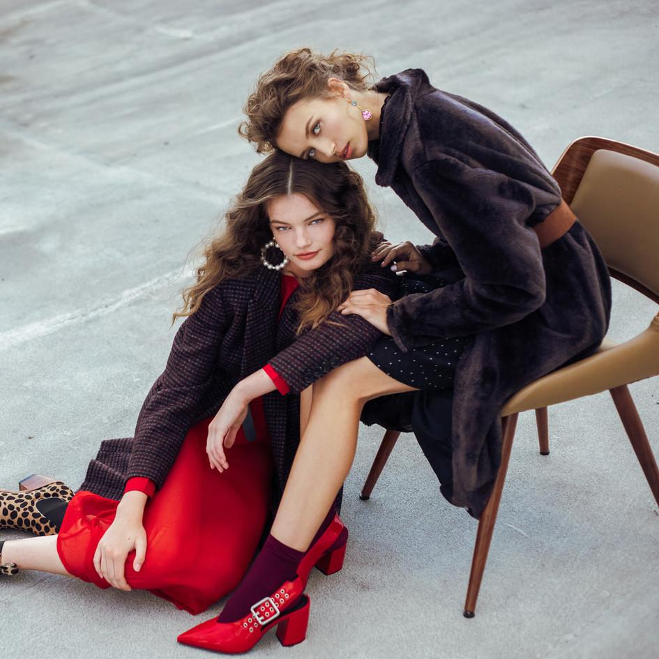 Make-Up: Joanne Kim Photographer: Ty Chen Models: Mallory Veith & Sophia Rosene Wardrobe: Allison Victoria